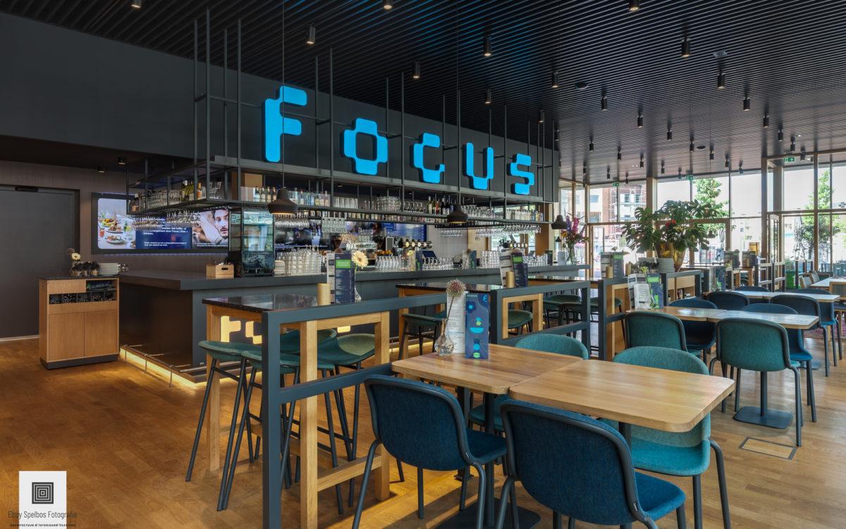Interieurfoto van focus fimtheater, gemaakt door architectuurfotograaf Elroy Spelbos