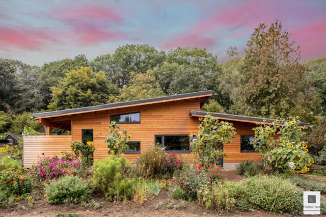 Moderne villa van hout